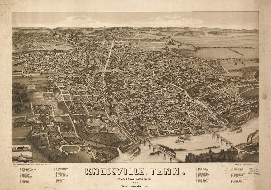 When was Knoxville TN founded?